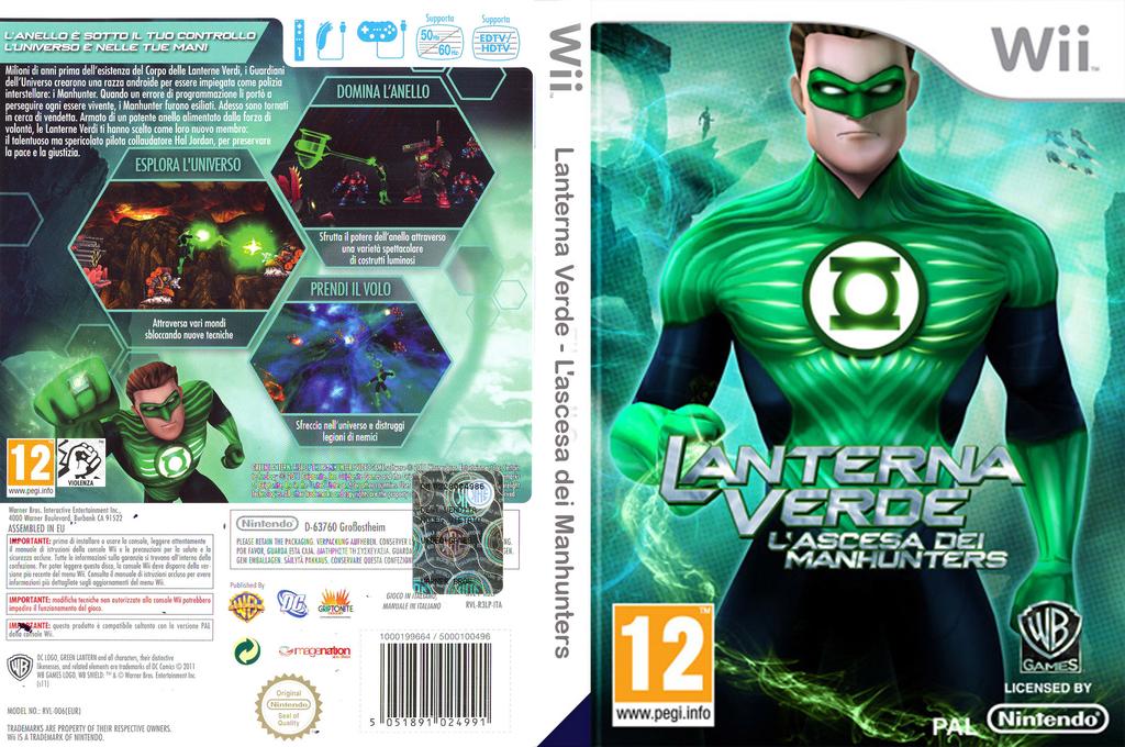 Lanterna Verde: L'ascesa dei Manhunters Wii coverfullHQ (R3LPWR)