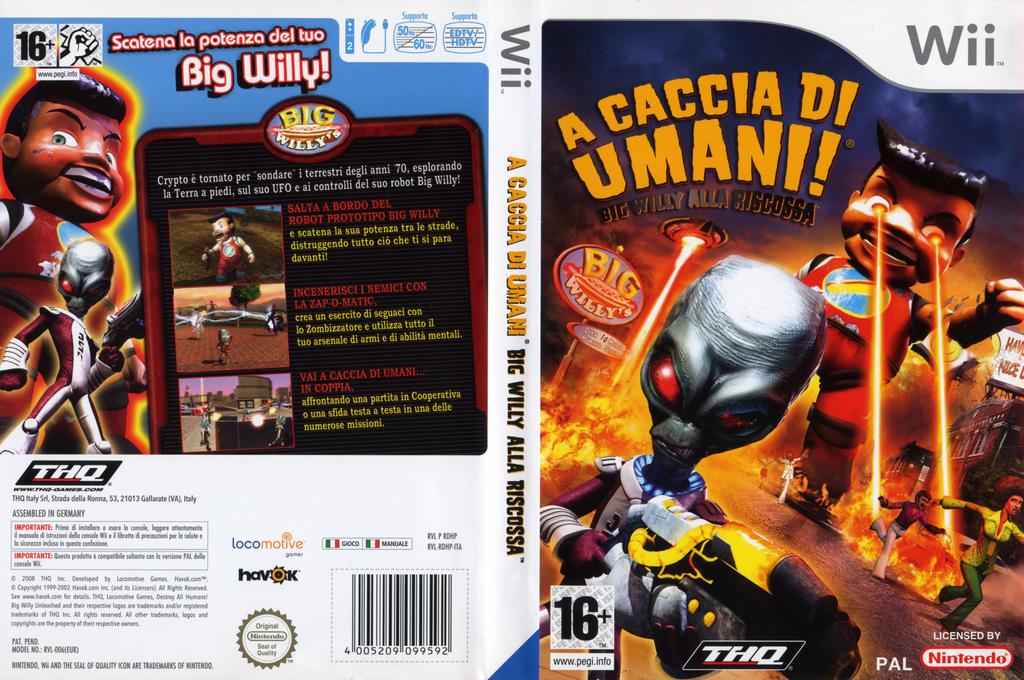 A Caccia Di Umani! Big Willy Alla Riscossa Wii coverfullHQ (RDHP78)