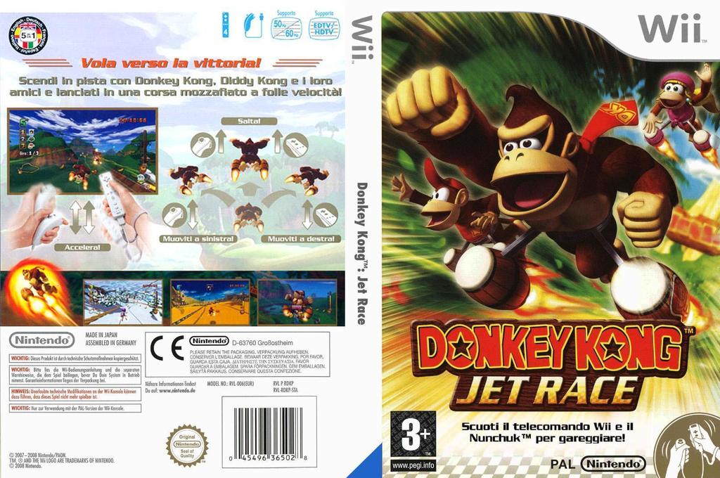 Donkey Kong: Jet Race Wii coverfullHQ (RDKP01)