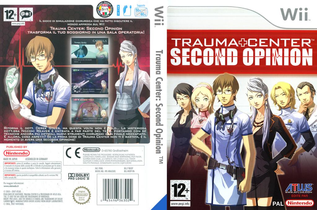 Trauma Center: Second Opinion Wii coverfullHQ (RKDP01)