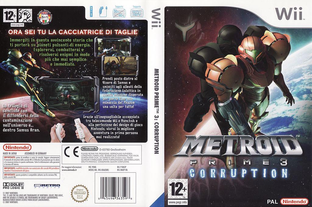 Metroid Prime 3: Corruption Wii coverfullHQ (RM3P01)
