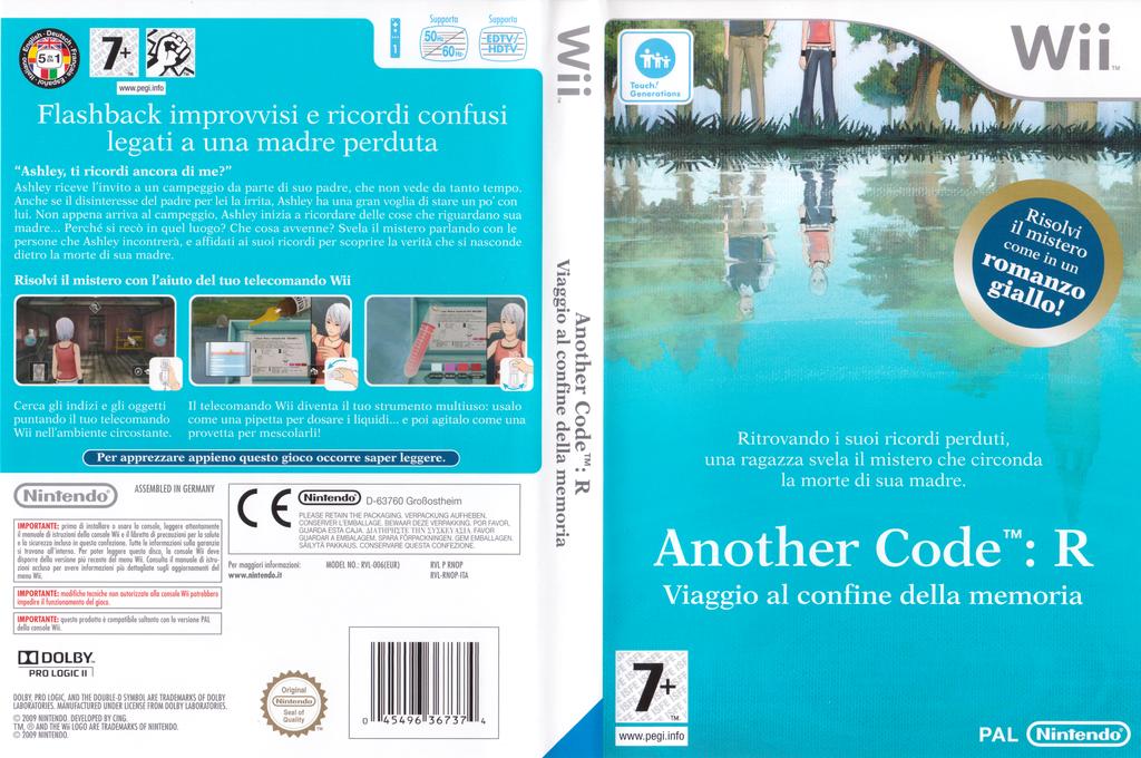 Another Code: R - Viaggio al confine della memoria Wii coverfullHQ (RNOP01)