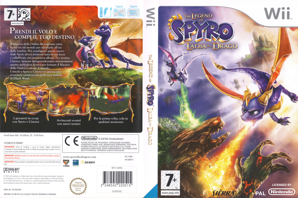 The Legend of Spyro: L'Alba del Drago Wii coverfullHQ (RO8P7D)