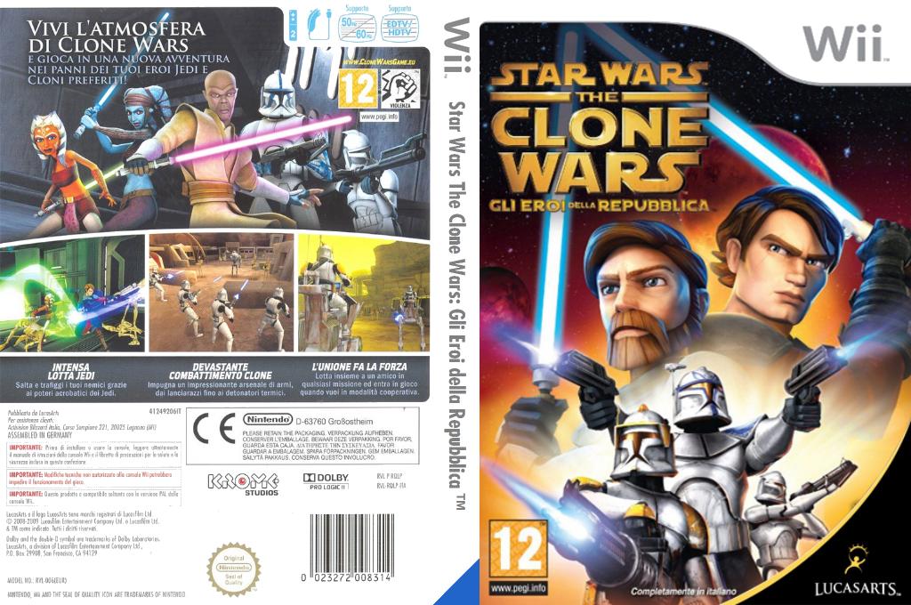 Star Wars The Clone Wars: Gli Eroi della Repubblica Wii coverfullHQ (RQLP64)