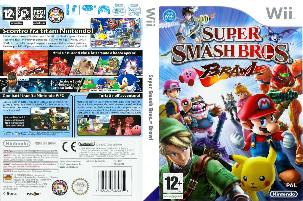 Super Smash Bros. Brawl Wii coverfullHQ (RSBP01)