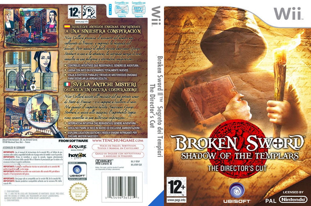 Broken Sword: Il Segreto dei Templari - The Director's Cut Wii coverfullHQ (RSJP41)