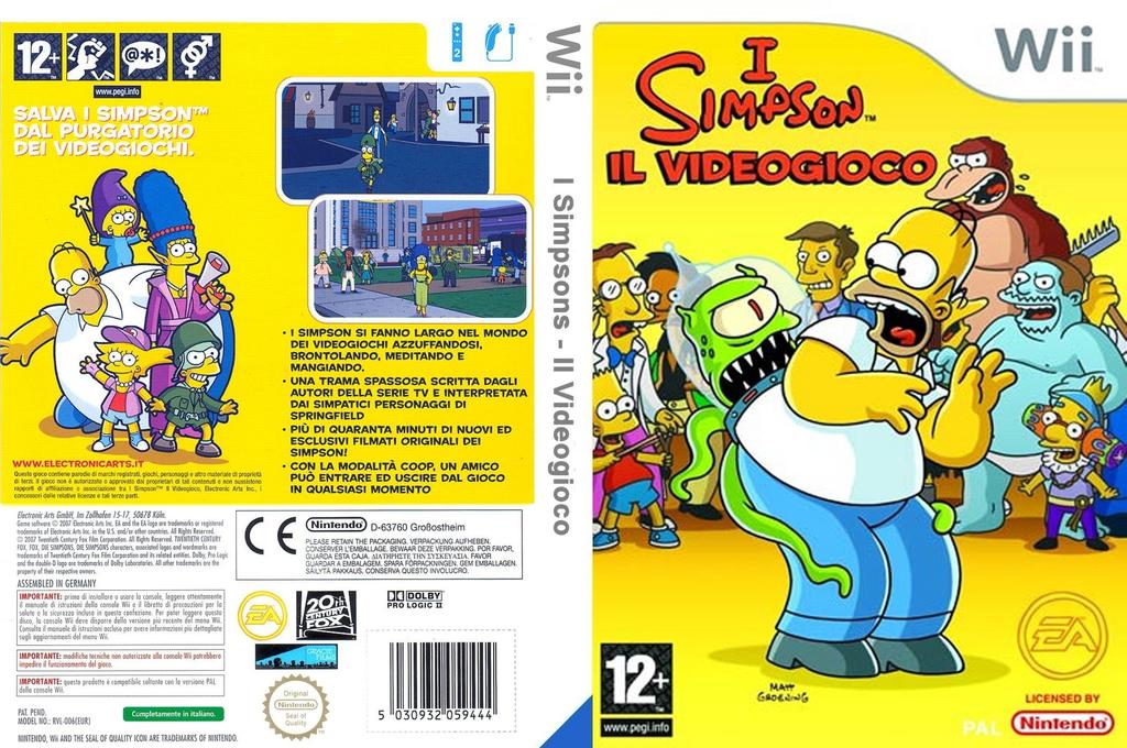 I Simpson: Il Videogioco Wii coverfullHQ (RSNX69)
