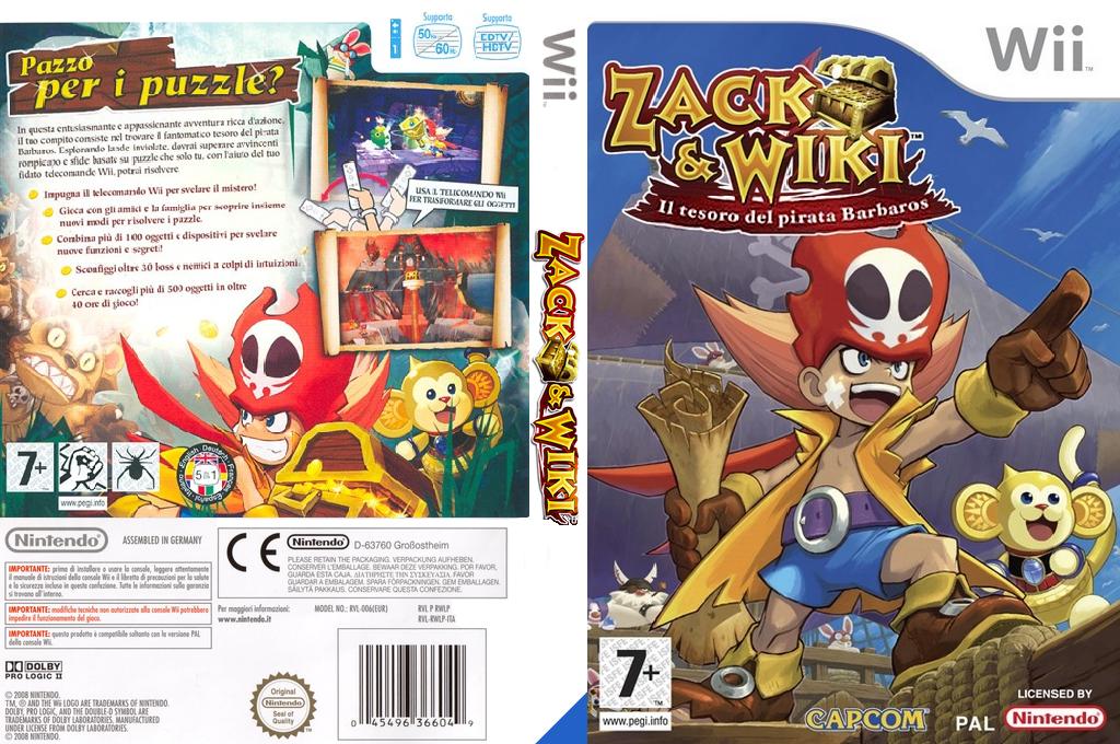 Zack & Wiki: Il Tesoro del Pirata Barbaros Wii coverfullHQ (RTZP08)
