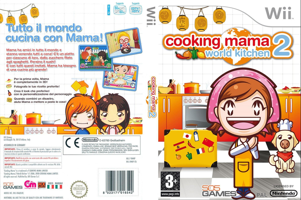 Cooking Mama 2: World Kitchen Wii coverfullHQ (RWKPGT)