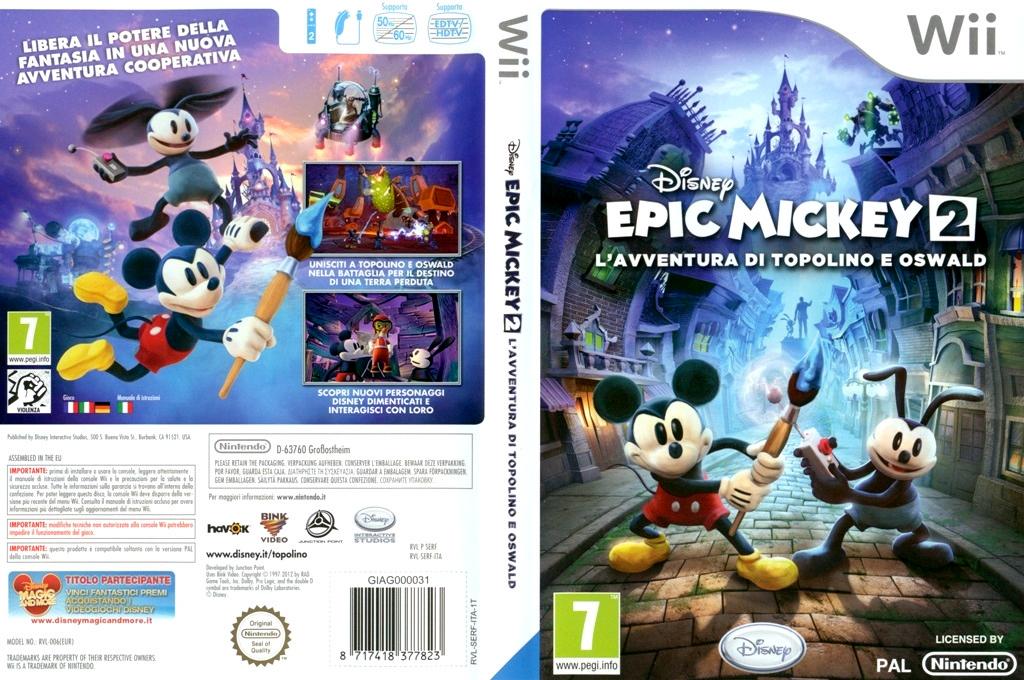 Disney Epic Mickey 2: L'avventura di Topolino e Oswald Wii coverfullHQ (SERF4Q)