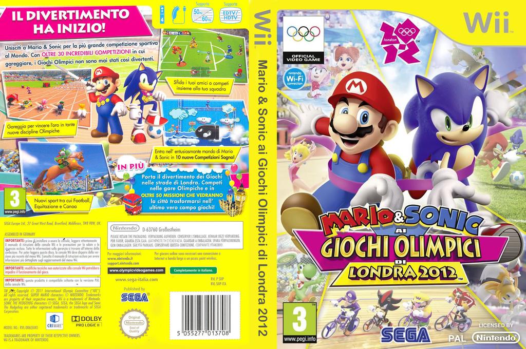 Mario & Sonic ai Giochi Olimpici di Londra 2012 Wii coverfullHQ (SIIP8P)