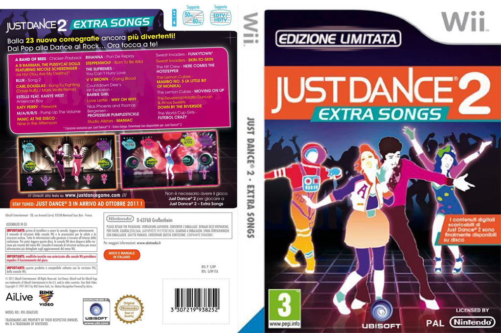 Just Dance 2 - Extra Songs Wii coverfullHQ (SJ9P41)