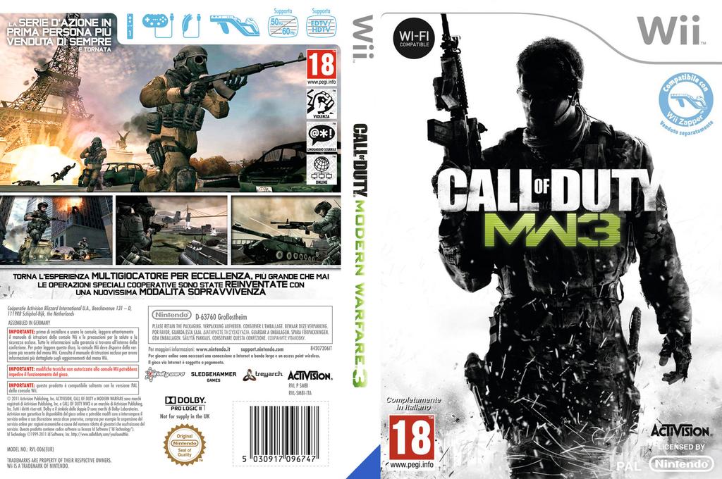 Call of Duty: Modern Warfare 3 Wii coverfullHQ (SM8I52)