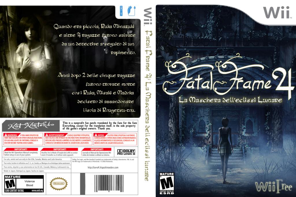 Fatal Frame 4: La Maschera dell'eclissi lunare Wii coverfullHQ (WFFF4I)