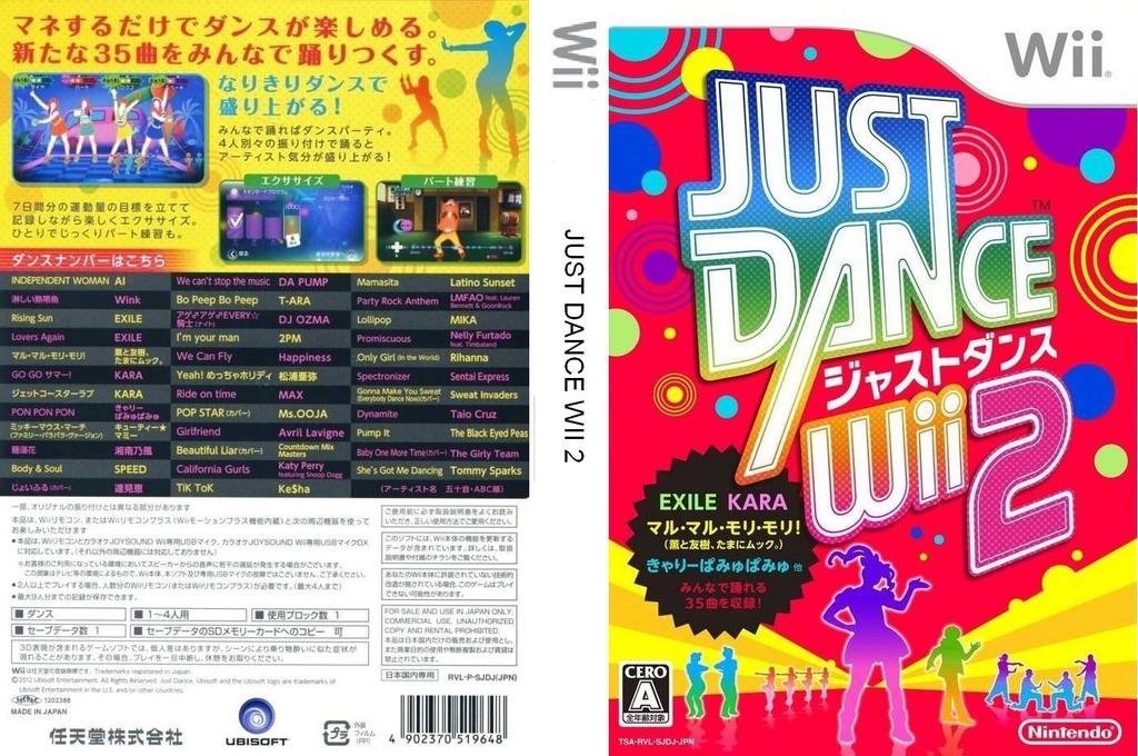 Just Dance Wii 2 Wii coverfullHQ (SJDJ01)