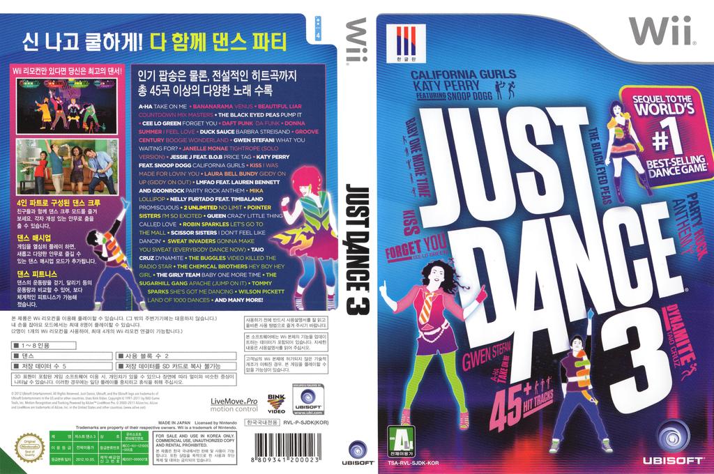 저스트 댄스 3 Wii coverfullHQ (SJDK41)