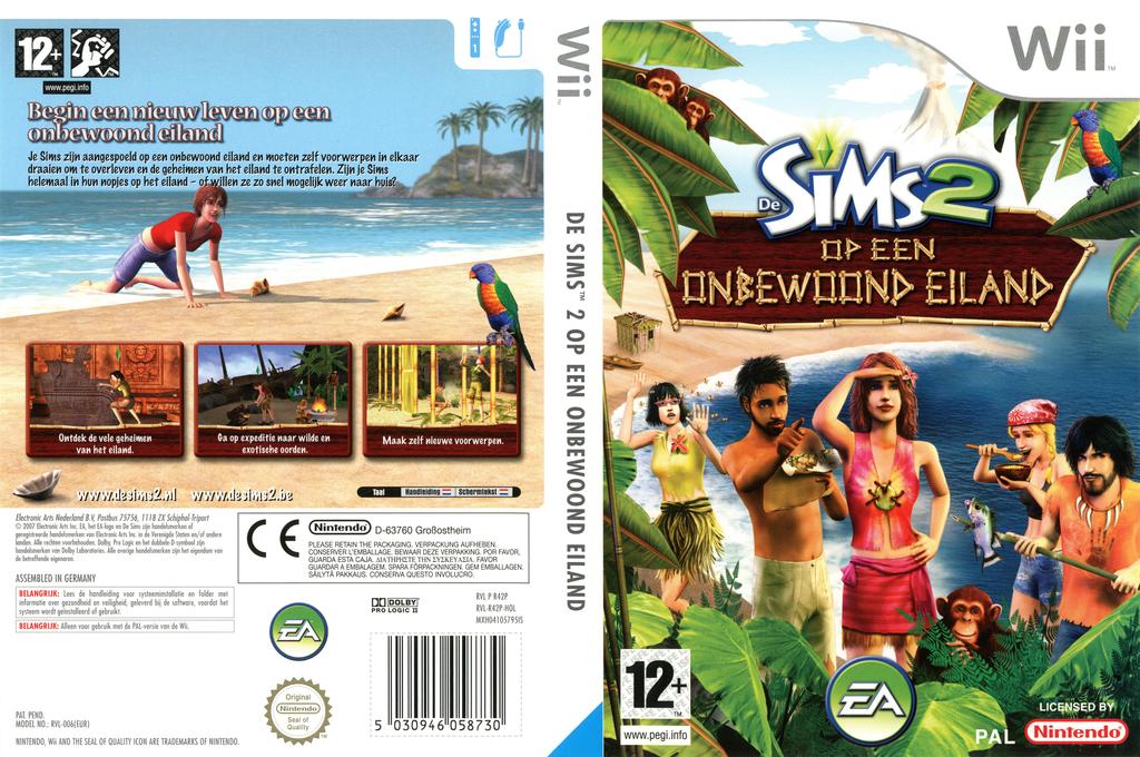 De Sims 2: Op een Onbewoond Eiland Wii coverfullHQ (R42P69)