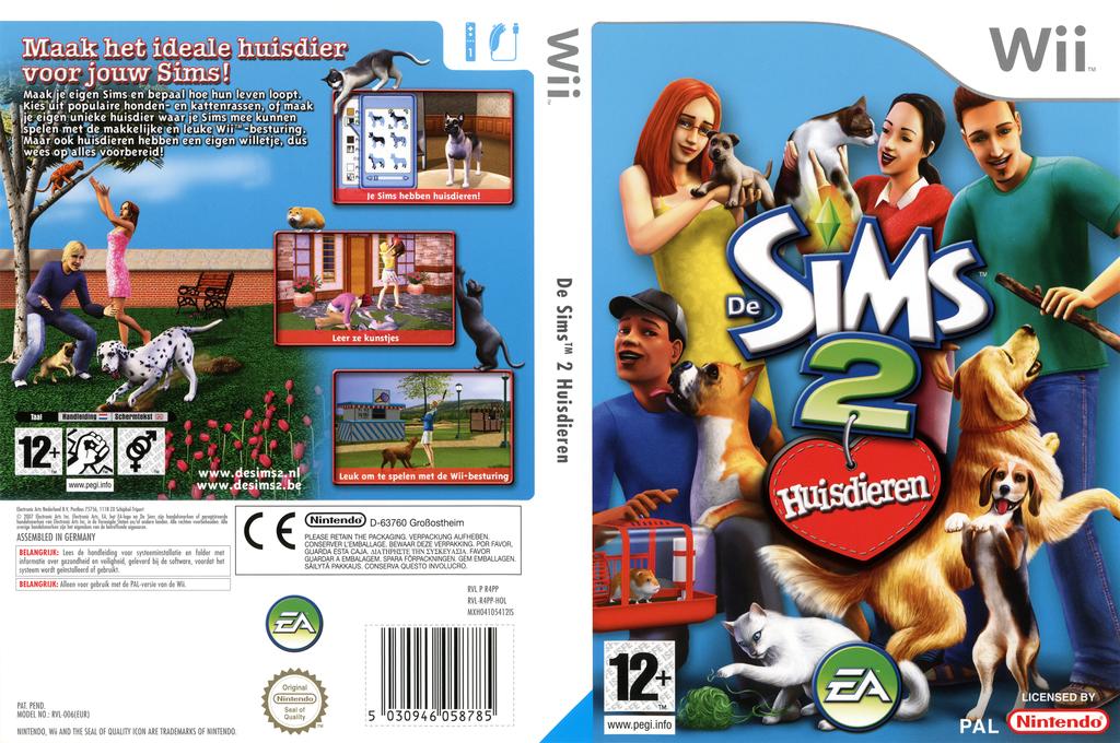 De Sims 2: Huisdieren Wii coverfullHQ (R4PP69)