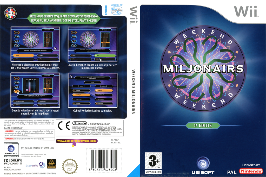 Weekend Miljonairs 1e Editie Wii coverfullHQ (R55P41)