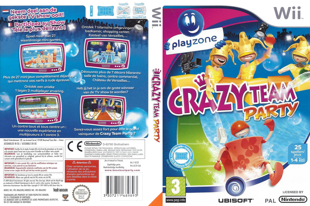 Crazy Crew Party Wii coverfullHQ (R7ZP41)