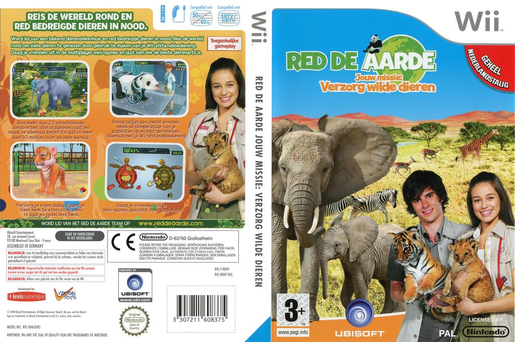 Red De Aarde:Jouw missie: Verzorg wilde dieren Wii coverfullHQ (R8VP41)
