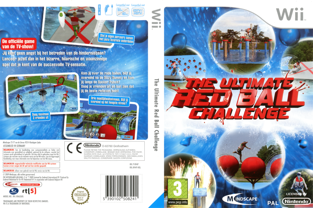 The Ultimate Red Ball Challenge Wii coverfullHQ (R94PMR)