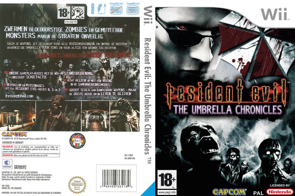 Resident Evil: The Umbrella Chronicles Wii coverfullHQ (RBUP08)