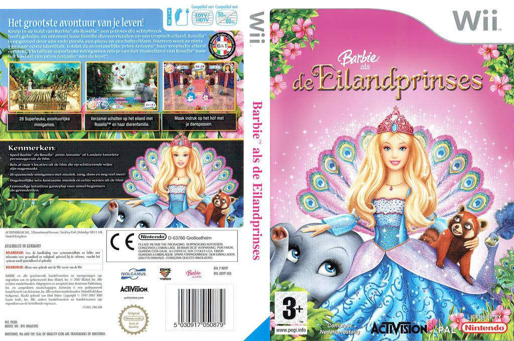 Barbie als de Eiland prinses Wii coverfullHQ (RBVP52)