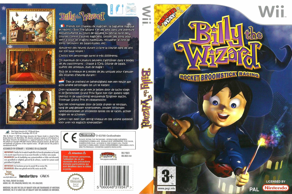 Billy the Wizard: Rocket Broomstick Racing Wii coverfullHQ (RBZPUG)