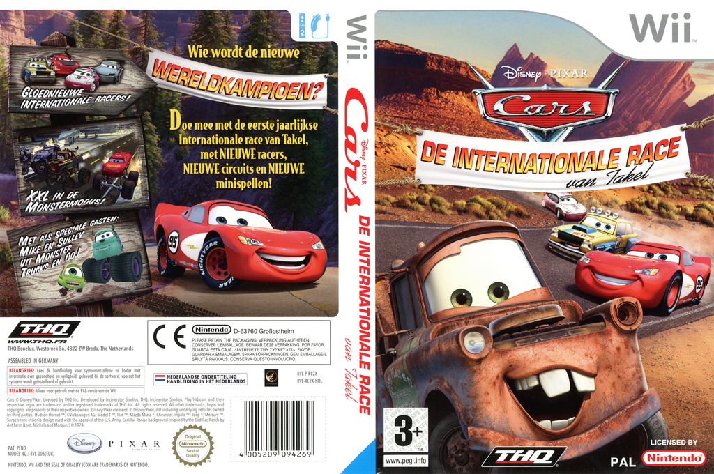 Cars: De Internationale Race van Takel Wii coverfullHQ (RC2X78)