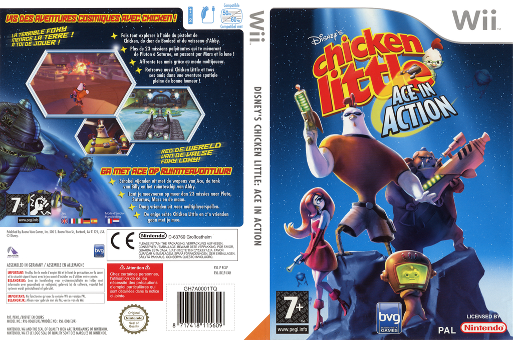 Chicken Little: De Avonturen van Ace Wii coverfullHQ (RCLP4Q)