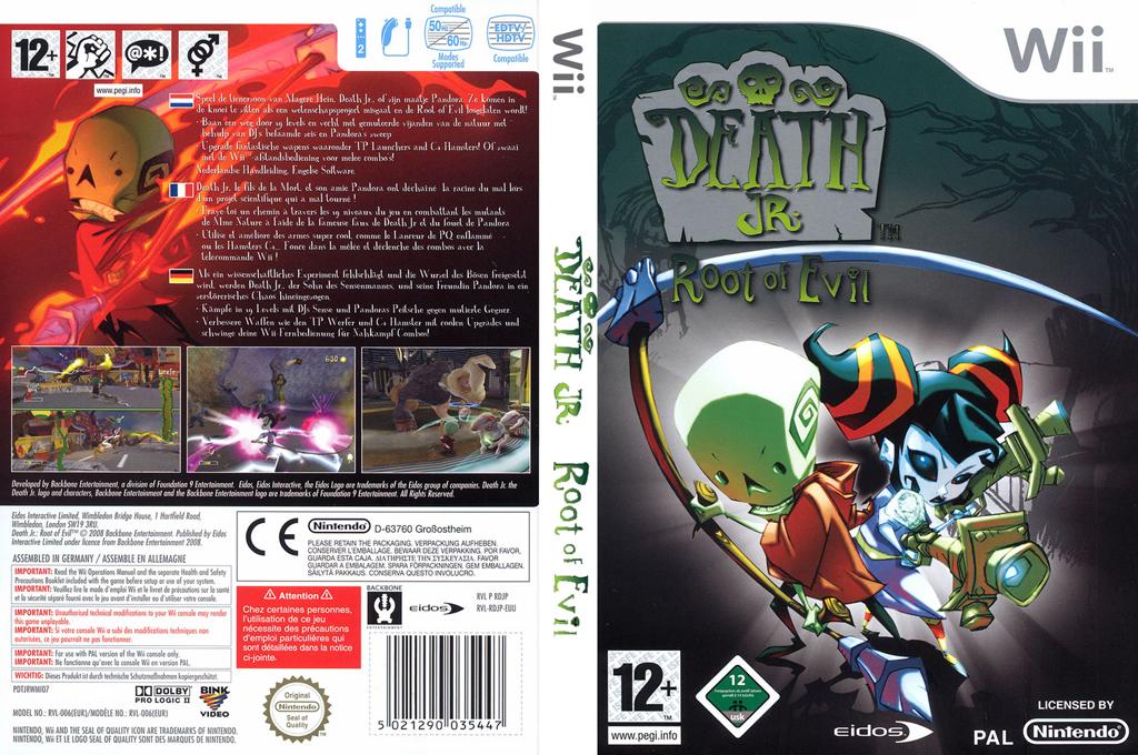 Death Jr.: Root of Evil Wii coverfullHQ (RDJP4F)