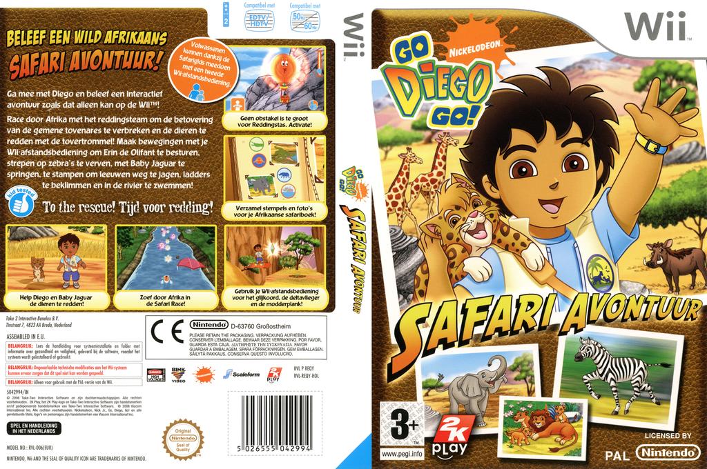 Go, Diego, Go! Safari Avontuur Wii coverfullHQ (REQY54)
