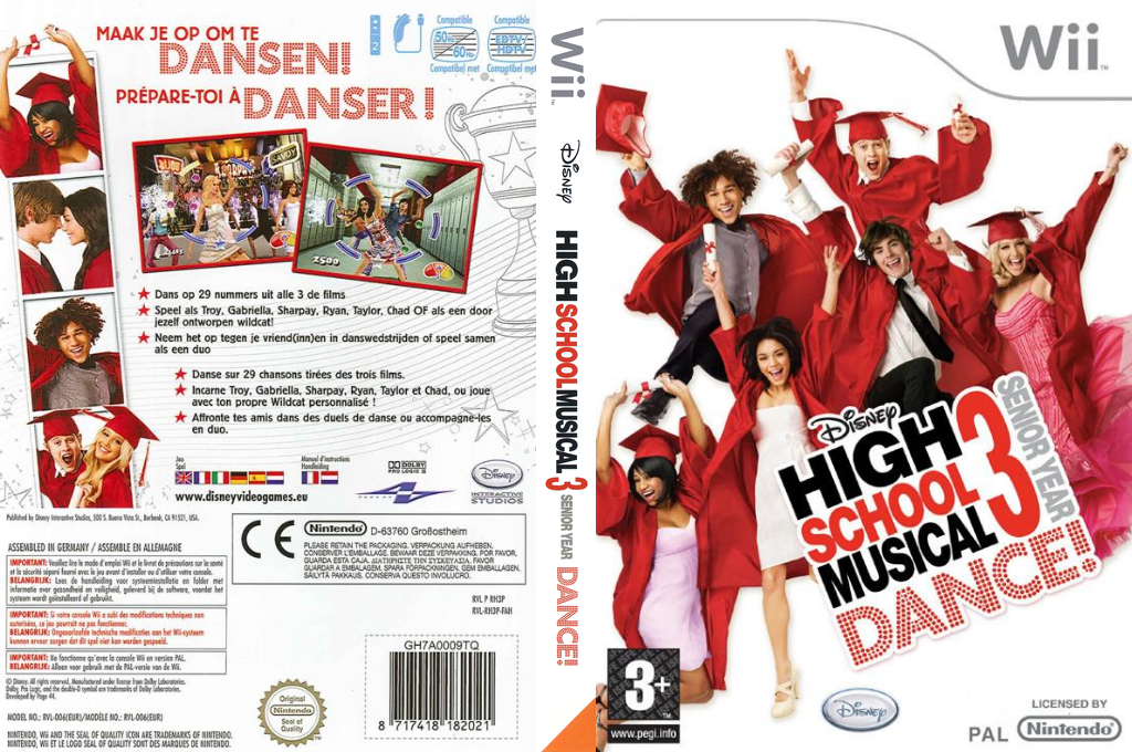 High School Musical 3: Senior Year Dance! Wii coverfullHQ (RH3P4Q)