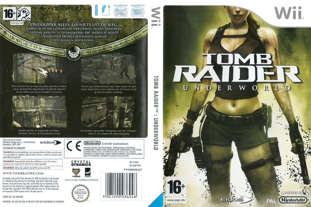 Tomb Raider: Underworld Wii coverfullHQ (RH8P4F)