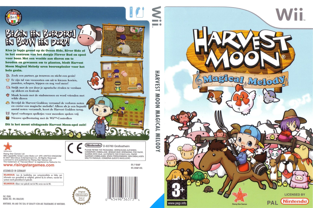 Harvest Moon: Magical Melody Wii coverfullHQ (RHMP99)