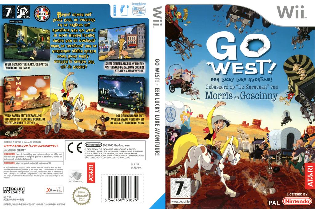 Go West!: Een Lucky Luke Avontuur! Wii coverfullHQ (RLLP70)