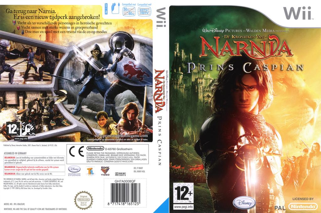 De Kronieken van Narnia: Prins Caspian Wii coverfullHQ (RNNY4Q)