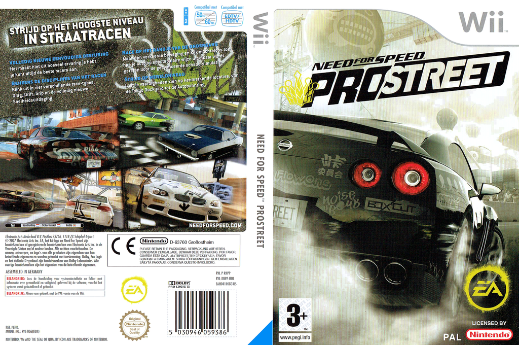 Need for Speed: ProStreet Wii coverfullHQ (RNPP69)
