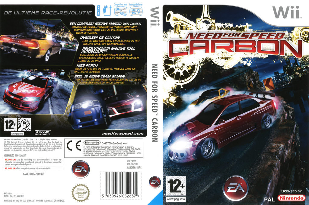 Need for Speed: Carbon Wii coverfullHQ (RNSP69)