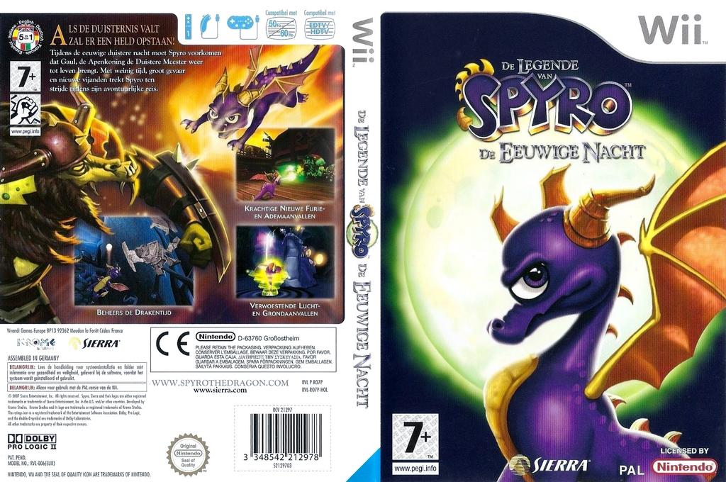 De Legende van Spyro: De Eeuwige Nacht Wii coverfullHQ (RO7P7D)