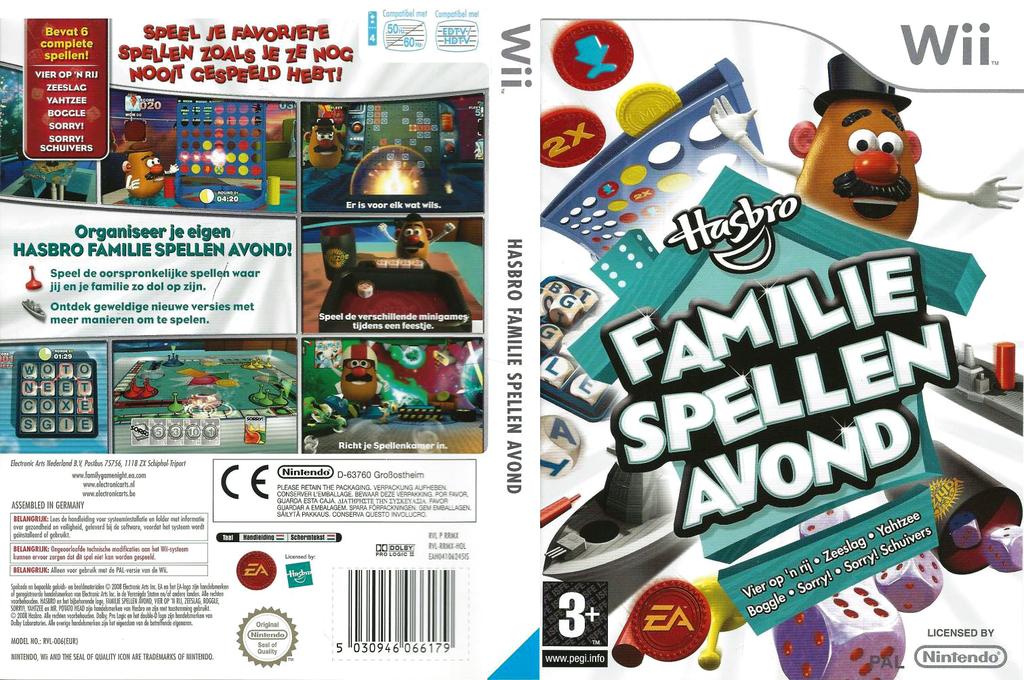 Hasbro: Familie Spellen Avond Wii coverfullHQ (RRMX69)