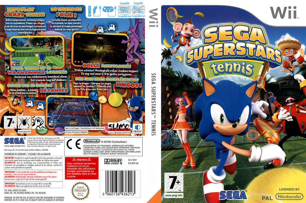 SEGA Superstars Tennis Wii coverfullHQ (RT5P8P)