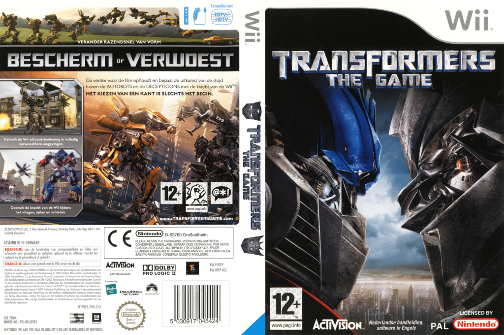 Transformers: The Game Wii coverfullHQ (RTFP52)