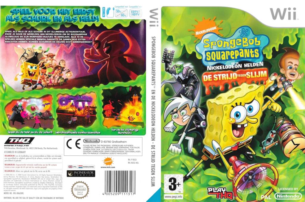 Spongebob SquarePants:De Strijd Tegen Slijm Wii coverfullHQ (RUSX78)