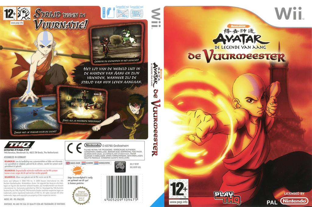 Avatar: De Legende van Aang - De Vuurmeester Wii coverfullHQ (RV9P78)