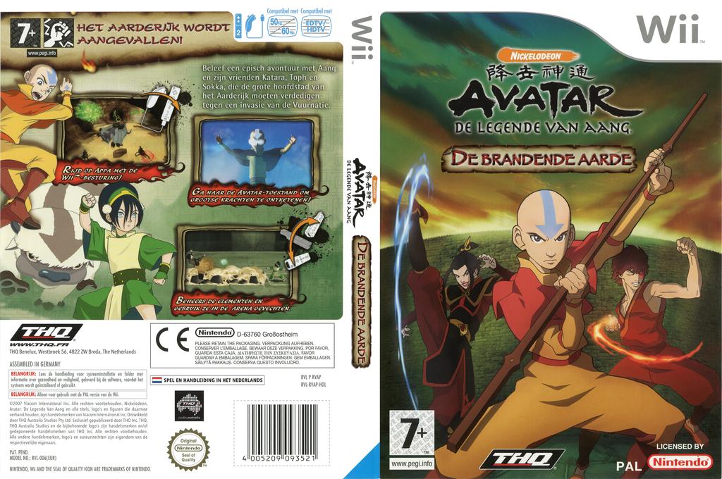Avatar: De Legende van Aang - De Brandende Aarde Wii coverfullHQ (RVAP78)