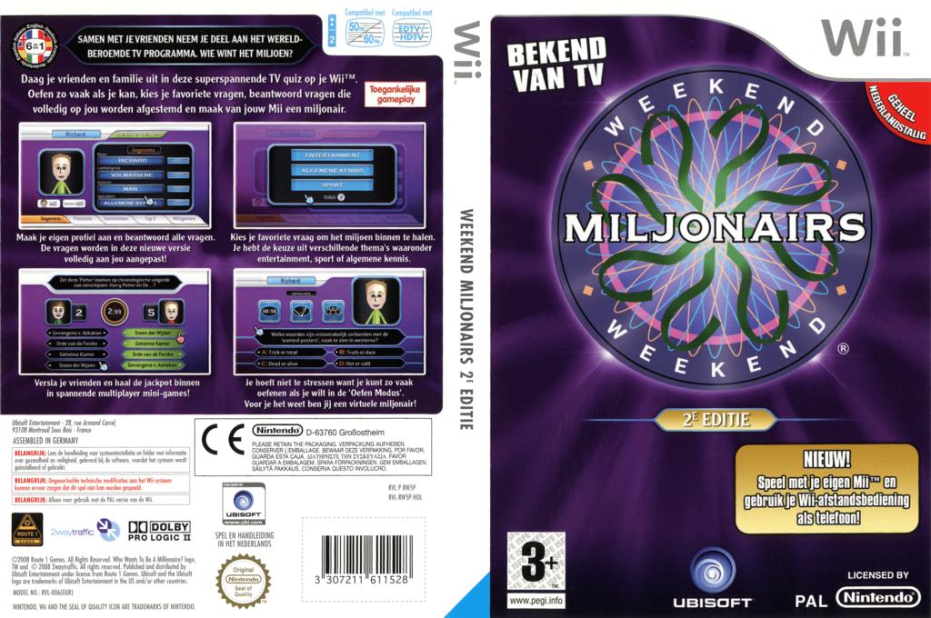 Weekend Miljonairs 2e Editie Wii coverfullHQ (RW5P41)