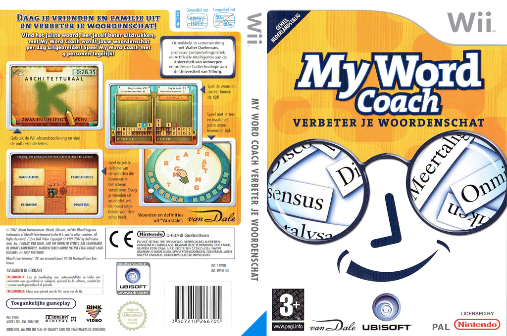 My Word Coach: Verbeter je Woordenschat Wii coverfullHQ (RWFH41)