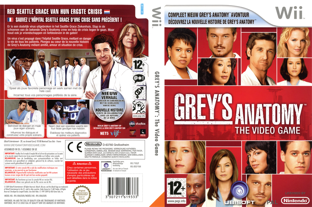 Grey's Anatomy: The Video Game Wii coverfullHQ (RXLP41)